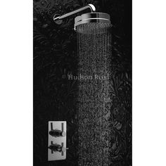 Hudson Reed Tec Pura Twin Concealed Thermostatic Shower Valve w/ Fixed Head Types Of Plumbing, Large Shower Heads, Plumbing Installation, Fixed Shower Head, Hudson Reed, Shower Valve, Bathroom Toilets, Amazing Bathrooms, Twin