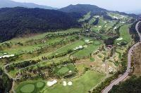This Aug. 27, 2016 photo shows the golf course of Lotte Skyhill Seongju Country Club in Seongju, South Korea. (Yonhap via AP)