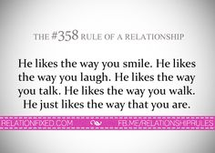 Relationship Rules added a new photo. Silly Quotes, Love Quotes, Im In Love, I Love You, Relationship Rules, Relationships, The Way You Are, Your Smile, Food For Thought