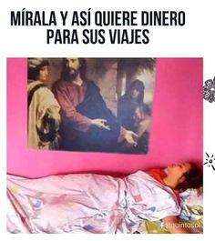 Jesus Meme, Funny Spanish Memes, Really Funny, Funny Images, Bigbang, Kawaii Anime, Haha, Jokes, Instagram