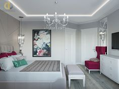 Дизайн интерьера спальни в двухкомнатной квартире 81 кв.м в стиле неоклассика с элементами ар-деко14 Projects, Log Projects, Blue Prints