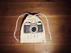 Turnbeutel Camera Love (natur)