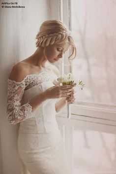 Weddbook is a content discovery engine mostly specialized on wedding concept. You can collect images, videos or articles you discovered  organize them, add your own ideas to your collections and share with other people - Weddbook ♥ 2-Piece Wedding Dress with the Lace Off-The-Shoulder Scalloped Neckline Corset Bodice and the Flowing Skirt. lace  #lace