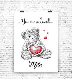 """You are so loved"" Kunstdruck Wunschname von MilaLu auf DaWanda.com"