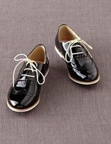 Black patent brogues by Boden