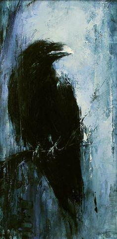 New Spirit Animal Art Crows Ravens Ideas Crow Painting, Painting & Drawing, Encaustic Painting, Crow Art, Bird Art, Corvo Tattoo, Raven Bird, Blue Raven, Crows Ravens
