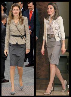 6 Princesa Letizia Ortiz_look para trabalho com cinto_ Workstyle and Belt