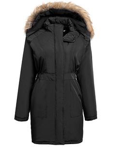 Meaneor Women's Arctic Insulated Down Alternative Parka with Faux Fur Trim *** Check out the image by visiting the link.