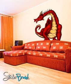 Graphics Wall Decal Sticker Dragon #JH106 | Stickerbrand wall art decals, wall graphics and wall murals.