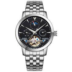 e6101354240 2016 Men Watches Luxury Top Brand LIGE Sport Mechanical Watch Gold Clock Men  Tourbillon Automatic Wristwatch With Moon Phase