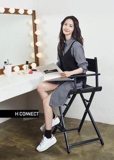 More of SNSD YoonA's pretty pictures from 'H:Connect' Im Yoona, Kim Hyoyeon, Seohyun, Korean Girl Fashion, Kpop Fashion, Ulzzang Korean Girl, Famous Girls, Beautiful Asian Girls, Girls Generation