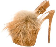 Christian Louboutin Splash Fur 150 Pumps- 7112style.website -