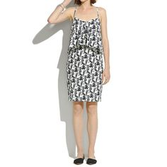 Madewell Echo Dress $398. I die for that little ruffle.
