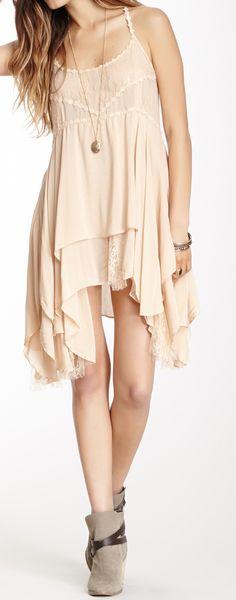 Blush boho dress
