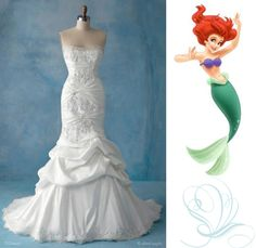 Disney wedding dress - Ariel