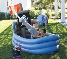 Splish splash! We cannot wait for the nice weather coming this weekend. The kids want to try out their new Pottery Barn Kids Pirate Pool!