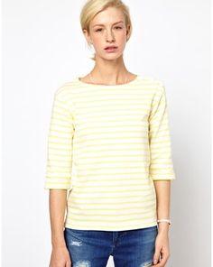 Mih Striped Boat Neck T-Shirt, Asos