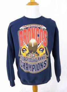 Denver Broncos Starter Sweater Large Super Bowl XXXII 32 NFL Football Pullover #Starter #DenverBroncos