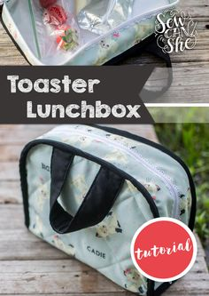 DIY Toaster Lunchbox {free sewing tutorial} — SewCanShe | Free Daily Sewing Tutorials