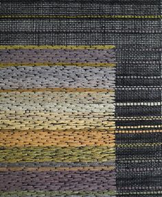Detail: gauze runner with inlay floats. Morgan Clifford