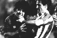 Dani coge del cuello a Maradona en la final de Copa 83-84 entre Athletic y Barça pic.twitter.com/V3jMw9r5sm