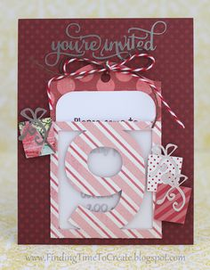 Pocket Tag Invitation by Kelly Wayment | Designs by Kolette Hall