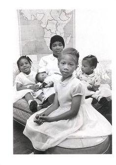 The widow (Dr. Betty Shabazz) and children of El Hajj Malik El Shabazz Omowale!