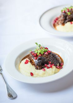 Cocoa powder enriches these braised beef short ribs from Manhattan-based chef Melissa Muller Daka.