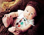 Baby Boy Tie Onesie Bodysuit.....Zobows on Esty   ** SOOOO cute! Bought one for my b/g twins 1st bday!
