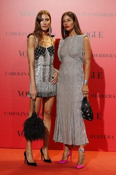 Giorgia Tordini and Gilda Ambrosio in Attico attend the Vogue Spain Anniversary party Vestidos Carolina Herrera, Looks Street Style, Madrid Street Style, Party Mode, Mode Inspiration, Party Fashion, Chic Outfits, Dress To Impress, Nice Dresses