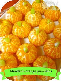 Mandarin orange pumpkins #snacks | www.kurbo.com