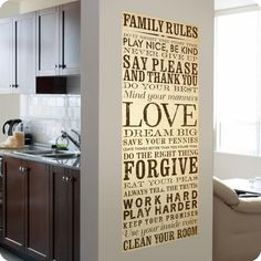 Family Rules Canvas Wall Art - on lot26.com