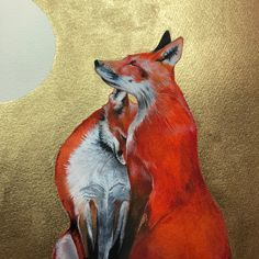 Watercolour fox painting #fox #foxart @vulpes #vulpesvulpes #vulpes #schmincke Sam Cannon, Colored Pencils, Pencil Drawings, Beast, Moose Art, Fox Painting, Watercolour, Artwork, Passion