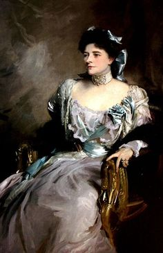 "Alice (Sedgwick Mankiewicz), Lady Wernher, by John Singer Sargent, 1902.  Widow of one of the richest men in the world, Sir Julius Wernher, German born ""Randlord"" and art collector, Lady Wernher married as her second husband Henry Ludlow Lopes, 2nd Baron Ludlow of Heywood)"