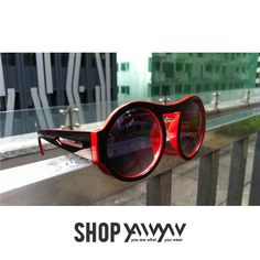 its all about direction, add this black and red sunnies to your cart Sunnies, Sunglasses, Cart, Red, Shopping, Black, Fashion, Covered Wagon, Moda