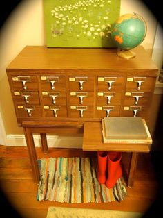 vintage card catalog, for my love of furniture. <3