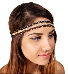 $8.90 Blush/Black Braided Chain Headband
