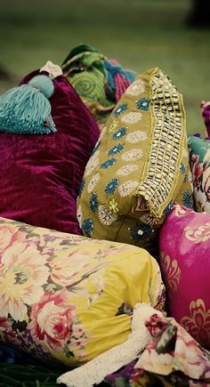 use old pillow cases tied with ribbon to cover/decorate lumbar pillows