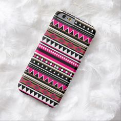 Cute iPhone 6 Case! This Pink iPhone 6 case - Aztec Pattern can be personalized or purchased as is to protect your iPhone 6 in Style!