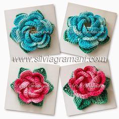 Flores de Crochê em Barbante                                                                                                                                                                                 Mais