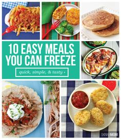 These meals are perfect for meal prepping!