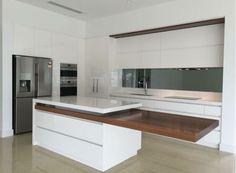 Kitchen Furniture, Kitchen Dining, Kitchen Decor, Kitchen Cabinets, Minimalist Kitchen, Minimalist Interior, Dining Table With Storage, Transforming Furniture, Concrete Kitchen
