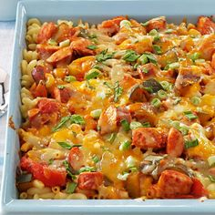 Three-Cheese Kielbasa Bake Recipe -My aunt originally made this hearty casserole for family gatherings. Now I enjoy fixing it for my family any night of the week. What a great way to sneak in some garden veggies. —Kate Beckman, Hemet, California