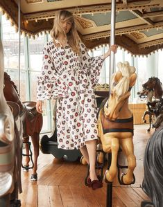 40156f7145 madewell x karen walker floral fantasia dress worn with the remi bow mule.  Everyday Dresses