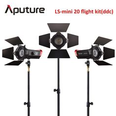 Aputure CRI 97+ LS Mini20 flight kit ddc fresnel cob led light photography led light film led light with light stand #Affiliate