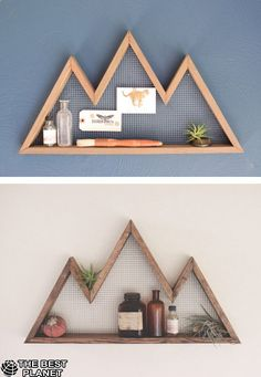 Awesome Bring a little mountain majesty to your living room wall with a reclaimed-hemloc. Bring a little mountain majesty to your living room wall with a reclaimed-hemlock display shelf made by Etsy seller Bourbon Moth Woodworking.