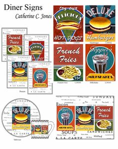 diner signs....have these.