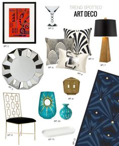 // Trend Spotted: Gatsby-Inspired Art Deco by @Modern Eve, featuring one of our prints!