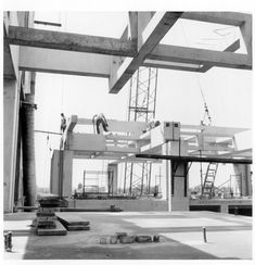 Construction Photo Alfred Newton, Louis Kahn building
