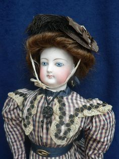 "Antique 16"" French Fashion Doll FG 4 Pale Bisque Swivel Neck Excellent 